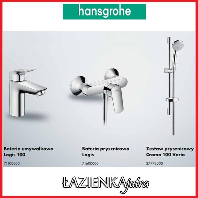 hansgrohe logis 100 pakiet prysznicowy 52054375 azienka jutra. Black Bedroom Furniture Sets. Home Design Ideas