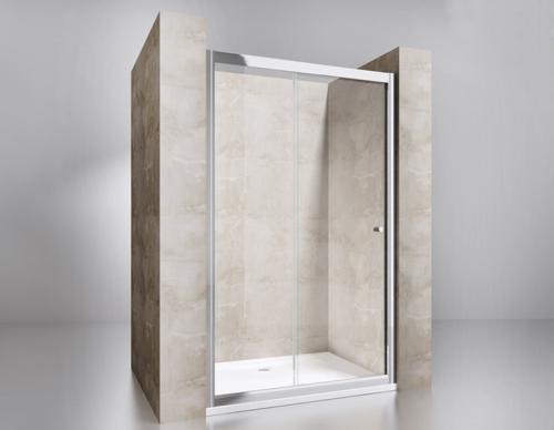 Fa402 Drzwi Przesuwne 140x195 Szkło Transparentne Powłoka Easy Clean
