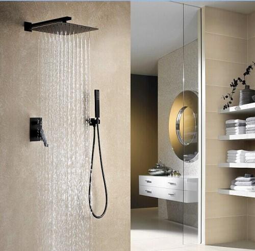 Negro Podtynkowy Zestaw Prysznicowy Czarny łazienka Jutra