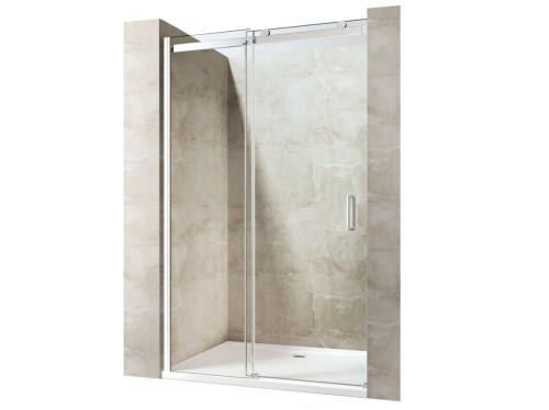 8801 Drzwi Przesuwne 100x190 Szkło Transparentne Powłoka Easy Clean